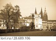 Купить «Saint Vitus Cathedral in Prague», фото № 28689106, снято 20 ноября 2011 г. (c) Яков Филимонов / Фотобанк Лори