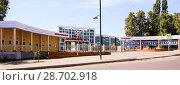 Купить «Стадион'' Металлург'' Липецк», фото № 28702918, снято 7 июля 2018 г. (c) Евгений Будюкин / Фотобанк Лори