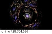 Купить «Фрактальный узор. Анимация. 4К», видеоролик № 28704586, снято 8 июля 2018 г. (c) Parmenov Pavel / Фотобанк Лори