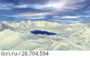 Купить «Чужая планета. Скалы и озеро. Анимация. Панорама. 4К», видеоролик № 28704594, снято 8 июля 2018 г. (c) Parmenov Pavel / Фотобанк Лори
