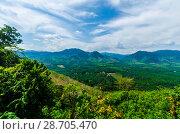 Купить «Живописный вид с горы на поля, джунгли и и долину Краби, Таиланд», фото № 28705470, снято 17 февраля 2013 г. (c) Игорь Рожков / Фотобанк Лори