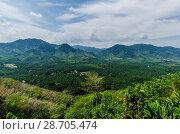 Купить «Живописный вид с горы на поля, джунгли и и долину Краби, Таиланд», фото № 28705474, снято 17 февраля 2013 г. (c) Игорь Рожков / Фотобанк Лори