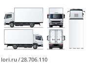 Купить «Vector truck template isolated on white», иллюстрация № 28706110 (c) Александр Володин / Фотобанк Лори