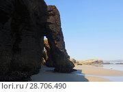 Natural arches at sand beach. Стоковое фото, фотограф Яков Филимонов / Фотобанк Лори