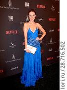 Brianne Davis attending the Weinstein Company and Netflix Golden ... (2017 год). Редакционное фото, фотограф Charlie Steffens / WENN.com / age Fotostock / Фотобанк Лори