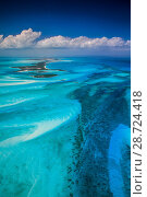 Купить «Aerial view of eastern Bahamas Reefs, Atlantic Ocean», фото № 28724418, снято 18 августа 2018 г. (c) Nature Picture Library / Фотобанк Лори