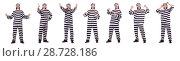 Купить «Prison inmate isolated on the white background», фото № 28728186, снято 18 ноября 2013 г. (c) Elnur / Фотобанк Лори