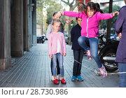 Купить «children play on street», фото № 28730986, снято 21 октября 2017 г. (c) Яков Филимонов / Фотобанк Лори