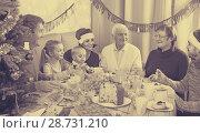 Купить «Family members are talking to each other», фото № 28731210, снято 23 января 2019 г. (c) Яков Филимонов / Фотобанк Лори