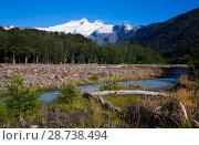 Купить «Valley of river Cauquenes and mountain Tronador», фото № 28738494, снято 5 февраля 2017 г. (c) Яков Филимонов / Фотобанк Лори