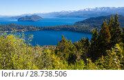 Купить «Lago Nahuel Huapi and Cerro Campanario», фото № 28738506, снято 6 февраля 2017 г. (c) Яков Филимонов / Фотобанк Лори