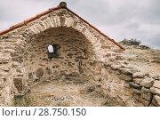 Купить «Sagarejo Municipality, Kakheti region, Georgia. Church of the Resurrection In Ancient David Gareja Monastery Complex. Monastery Is Located Is Southeast Of Tbilisi. 6th Century.», фото № 28750150, снято 23 октября 2016 г. (c) easy Fotostock / Фотобанк Лори