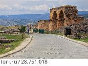 Купить «Руины античного города Иераполис. Памуккале. Турция», фото № 28751018, снято 20 июня 2018 г. (c) Роман Рожков / Фотобанк Лори