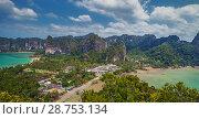 Купить «Вид с высоты. Краби. Пляж Рэйлей (Raylei). Таиланд», фото № 28753134, снято 21 июля 2018 г. (c) Александр Романов / Фотобанк Лори