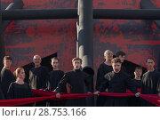 """Купить «Опера Дж. Верди """"Макбет"""" на Соборной площади Петропавловской крепости во время VII Санкт-Петербурского международного фестиваля """"Опера - всем""""», фото № 28753166, снято 15 июля 2018 г. (c) Stockphoto / Фотобанк Лори"""
