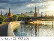 Купить «Утренний город morning city», фото № 28753206, снято 11 мая 2015 г. (c) Baturina Yuliya / Фотобанк Лори
