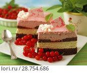 Купить «Sponge cake pastries.», фото № 28754686, снято 29 июня 2018 г. (c) easy Fotostock / Фотобанк Лори