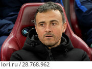 Купить «Atletico Madrid v FC Barcelona - Copa Del Rey Semi-final: First Leg Featuring: Luis Enrique Where: Madrid, Spain When: 01 Feb 2017 Credit: Oscar Gonzalez/WENN.com», фото № 28768962, снято 1 февраля 2017 г. (c) age Fotostock / Фотобанк Лори