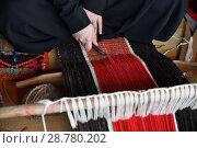 Купить «Hands of an arabian weaver», фото № 28780202, снято 14 июля 2018 г. (c) Знаменский Олег / Фотобанк Лори