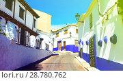 residence street of Campo de Criptana (2013 год). Стоковое фото, фотограф Яков Филимонов / Фотобанк Лори