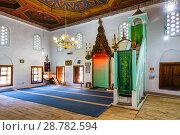 Купить «King's Mosque, Prayer Hall, Wooden carved ceiling, Berat, Albania.», фото № 28782594, снято 17 мая 2018 г. (c) age Fotostock / Фотобанк Лори