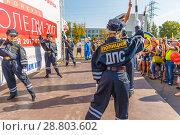 Купить «children dressed uniforms of police officers dancing in the park for parents and townspeople.», фото № 28803602, снято 16 сентября 2017 г. (c) Акиньшин Владимир / Фотобанк Лори
