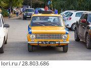 Купить «Old classic Lada car equipped for police.», фото № 28803686, снято 16 сентября 2017 г. (c) Акиньшин Владимир / Фотобанк Лори