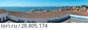 Sea view and cityscape from roof. Lisbon, Portugal. (2016 год). Редакционное фото, фотограф Юрий Брыкайло / Фотобанк Лори