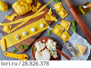Купить «cooking up delicious ravioli with ricotta», фото № 28826378, снято 16 июля 2018 г. (c) Oksana Zh / Фотобанк Лори