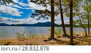 Купить «Казахстан. Озеро Боровое», фото № 28832878, снято 10 июня 2017 г. (c) Сергеев Валерий / Фотобанк Лори