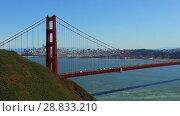 Купить «view of golden gate bridge over san francisco bay», видеоролик № 28833210, снято 9 июля 2018 г. (c) Syda Productions / Фотобанк Лори