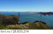 Купить «view of golden gate bridge over san francisco bay», видеоролик № 28833214, снято 9 июля 2018 г. (c) Syda Productions / Фотобанк Лори