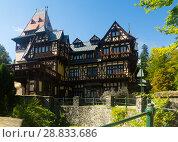 Купить «Pelisor Castle in Carpathian Mountains», фото № 28833686, снято 18 сентября 2017 г. (c) Яков Филимонов / Фотобанк Лори