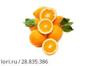 Купить «Orange fruit isolate», фото № 28835386, снято 23 февраля 2020 г. (c) Игорь Бородин / Фотобанк Лори