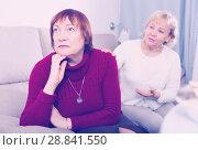 Купить «mature females quarreling on sofa», фото № 28841550, снято 22 ноября 2017 г. (c) Яков Филимонов / Фотобанк Лори