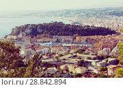 Купить «Image of european city Nice with apartment view of sea», фото № 28842894, снято 3 декабря 2017 г. (c) Яков Филимонов / Фотобанк Лори