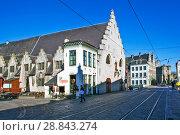 Купить «Большой мясной дом. Гент. Бельгия», фото № 28843274, снято 6 мая 2018 г. (c) Сергей Афанасьев / Фотобанк Лори
