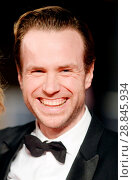 Купить «Rafe Spall attending the 2017 EE British Academy of Film and Television Arts Awards at the Royal Albert Hall, London. Featuring: Rafe Spall Where: London...», фото № 28845934, снято 12 февраля 2017 г. (c) age Fotostock / Фотобанк Лори