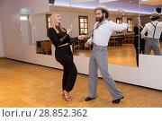 "Angelina Kirsch trains for Lets Dance at ""Tanzschule Birgit Prasse... (2017 год). Редакционное фото, фотограф Schultz-Coulon / WENN.com / age Fotostock / Фотобанк Лори"