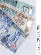 Купить «Jordanian dinars, banknotes, vertical photo», фото № 28859706, снято 19 мая 2018 г. (c) EugeneSergeev / Фотобанк Лори