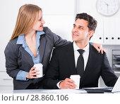 Купить «Sexual harassment between colleagues», фото № 28860106, снято 20 апреля 2017 г. (c) Яков Филимонов / Фотобанк Лори
