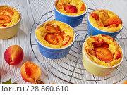 Купить «french summer dessert tasty apricot clafoutis», фото № 28860610, снято 22 июля 2018 г. (c) Oksana Zh / Фотобанк Лори