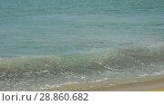 Купить «Waves on the beach», видеоролик № 28860682, снято 31 мая 2018 г. (c) Игорь Жоров / Фотобанк Лори