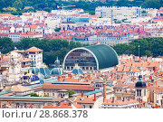 Купить «Lyon cityscape with City Hall and Opera roofs», фото № 28868378, снято 14 июля 2017 г. (c) Сергей Новиков / Фотобанк Лори