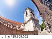 Купить «Low angle view of Besancon St. Jean Cathedral», фото № 28868562, снято 25 мая 2017 г. (c) Сергей Новиков / Фотобанк Лори