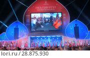Купить «Closing ceremony of FIFA Fan Fest», видеоролик № 28875930, снято 20 июля 2018 г. (c) Aleksey Popov / Фотобанк Лори