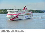 Купить «Cruise Ship Silja Line Baltic Princess in Baltic sea», фото № 28886982, снято 9 июля 2018 г. (c) Валерия Попова / Фотобанк Лори