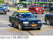 Купить «Nissan V16», фото № 28889530, снято 13 ноября 2015 г. (c) Art Konovalov / Фотобанк Лори