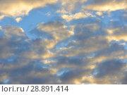 Купить «Golden sunset. Heavenly landscape», фото № 28891414, снято 8 июля 2018 г. (c) Валерия Попова / Фотобанк Лори