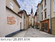 Купить «Мощеная улочка в историческом центре. Город Ибс на Дунае, Нижняя Австрия.», фото № 28891614, снято 8 июля 2018 г. (c) Bala-Kate / Фотобанк Лори